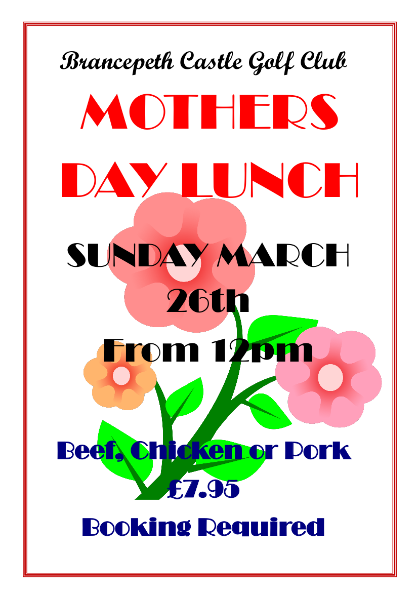 Mothers Day Menu