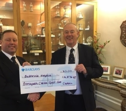 Photo - Butterwick Cheque for 2016