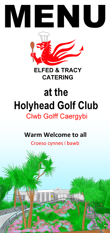Golf Club Menu Front